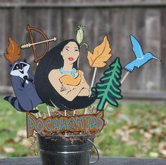 Pocahontas disney birthday party centerpiece by ladybugkarla