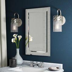 Greyleigh Graford 16 x 26 Recessed Medicine Cabinet with 2 Adjustable Shelves Bathroom Mirror Cabinet, Mirror Cabinets, Single Bathroom Vanity, Recessed Medicine Cabinet Mirror, Bathroom Cabinets, Master Bathroom, Downstairs Bathroom, Bath Mirrors, Bathroom Storage