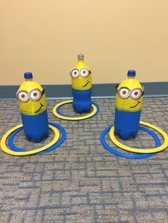 Show off your super villain skills with a game of Minions ring toss. 13 Minions Party Ideas For The Ultimate Despicable Me 3 Birthday Party Fun Games, Games For Kids, Activities For Kids, Crafts For Kids, Preschool Ideas, Articulation Activities, Activity Ideas, Minion Theme, Minion Birthday