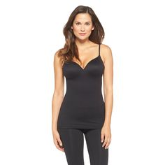 Maidenform Self Expressions Women's Wireless Cami with Foam Cups 509 Black - L