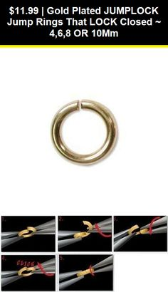 SAFER THAN A JUMP RING 8 MM 1 STRONG SECURE STERLING SILVER ROUND LOCK RING