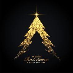 golden glowing merry christmas tree creative design - Buy this stock vector and explore similar vectors at Adobe Stock Merry Christmas Ya Filthy Animal, Merry Christmas Wishes, Merry Christmas And Happy New Year, Christmas Quotes, Happy Holidays, Merry Christmas Poster, Christmas Card Template, Printable Christmas Cards, Christmas Greeting Cards