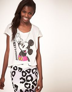 Enlarge Junk Food Mickey Mouse T-Shirt in Classic Print