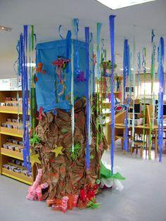 Decoración fondo del mar en la Biblioteca Pública de Soria