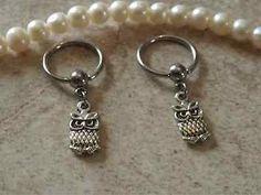 Nipple Ring Owls Captive Hoop Belly/ Navel Earring Body Jewelry 14ga