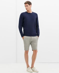 Image 1 of COTTON SWEATER WITH BUTTONS from Zara