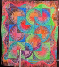 Absolutely stunning New York Beauty Sun Glow by Barbara Riedemann #Quilt
