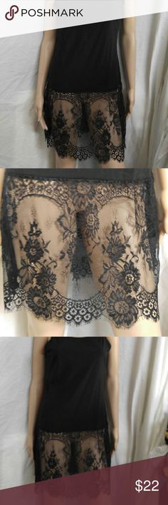 Black lace dress skirt extender This is a really cute dress extender. You can wear it with a skirt that is too short and you have lace on the bottom. Dresses Midi