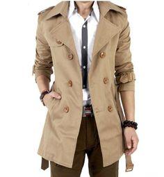 Men's Mid Length Trench Coat
