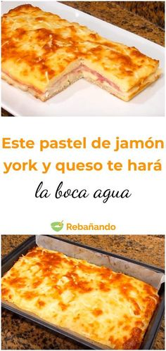 This ham and cheese cake will make your mouth water cake cake recipes unicornio cake cake de carne de tortilla salados individuales Cheese Pies, Ham And Cheese, Empanadas, Quiches, Tapas, Cheesecake, Breakfast Time, Food And Drink, Cooking Recipes