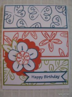Flower fest bday by sandijcrafts - Cards and Paper Crafts at Splitcoaststampers
