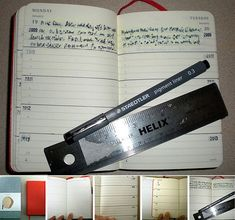 five year diary daily moleskine hack//moleskinerie