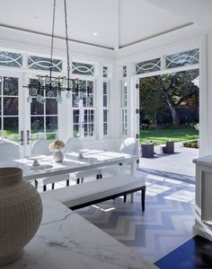 contemporary dining room by Markay Johnson Construction