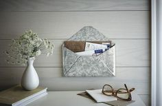 You've got mail! Keep it organized with this galvanized mail holder.