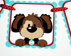 Puppy I am 1 Banner / Puppy Birthday Banner / Highchair Banner