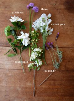 a gardenia bouquet offers a delicate fragrance with a variety of scented flowers and herbs