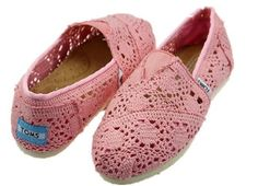 fresh and ready for your feet,TOMS shoes,god...SAVE 72% OFF! this is the best! | See more about crochet shoes, toms shoes outlet and toms crochet.