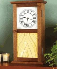 31-MD-00441+-+Shaker+Clock+Woodworking+Plan
