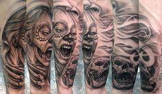 Off the Map Tattoo : Tattoos : Stefano Alcantara : Death bitting Death