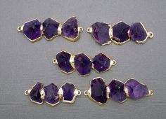Amazing Amethyst Point Double Bail Pendant by jewelersparadise