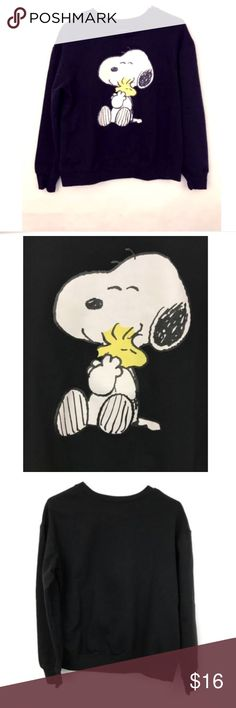 """Snoopy Woodstock Sweatshirt Peanuts Women's Large Great condition! No rips, holes or stains. Womens Large. Pit to pit 20"""" Shoulder to bottom 22.5"""" Peanuts Tops Sweatshirts & Hoodies"""