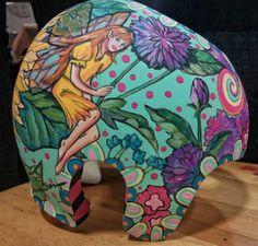 Corrective helmet I painted for my granddaughter. Helmet, Fine Art, Painting, Furniture, Products, Home Decor, Hockey Helmet, Painting Art, Motorcycle Helmet