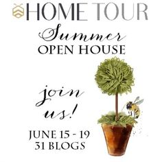 The bHome Summer Open House Tour kicks off tomorrow - 31 bHome Bloggers - 31 Homes - countless points of inspiration AND a $200 Painted Fox gift certificate for one of you! Join us, enter & win! on bHome https://bhome.us