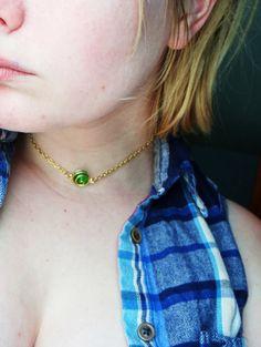 The Legend of Zelda Kokiri's Emerald Necklace by GuiltyGeeks, $20.00