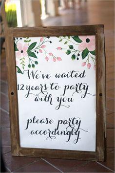 wedding reception sign @weddingchicks