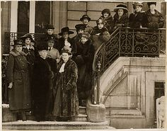 Allied women in Paris to plead for international suffrage. Women representing Allied Nations who called upon the President during his stay in Paris, and asked to be given a place at the Peace Conference, to inquire into and report upon the conditions concerning women and children throughout the world.    Representatives came from United States, France, Belgium, South Africa, Italy, and Poland (02/27/1919).    (National Archives, Record Group 165, ARC 533768)