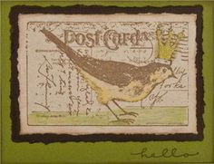 Bird #Postcard