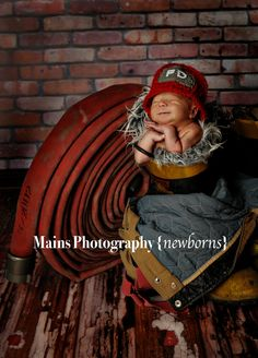 Firefighter Helmet in Red, Gray and White With Matching Diaper Cover Available in Newborn to 12 Month Size- MADE TO ORDER. $35.00, via Etsy.