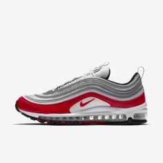Buy Nike Air Max 97 Men s Pure Platinum Black White University Red Shoe to  enjoy the Cheapest price and the highest Discount. 7b55cd69a