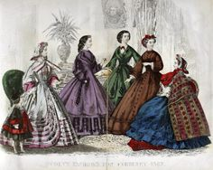Godey's Fashion for February 1862.