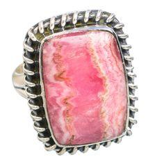 Rhodochrosite 925 Sterling Silver Ring Size 6 RING768819