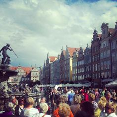 The beautiful historic center of Gdansk is amazing to end a cycling trip through Poland