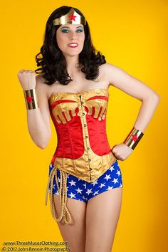 Wonder Woman Gold Tiara and Cuff bracers Costume by CandyKcosplay