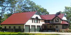 Berridge metal roofing colors and westform metal roofing colors. Metal Roof Houses, Metal Buildings, Red Roof House, Metal Roof Colors, Red Tiles, Roofing Felt, Red Barns, Roof Design, Exterior Colors