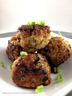 Sesame Ginger Turkey Meatballs.  **Make with some teriyaki-soy sauce noodles...yummy dinner**