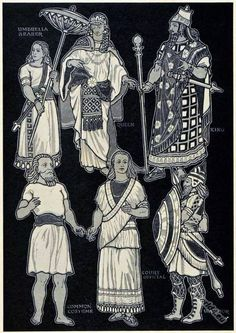 Picture Depicting Ancient Assyrian Dress & Costume