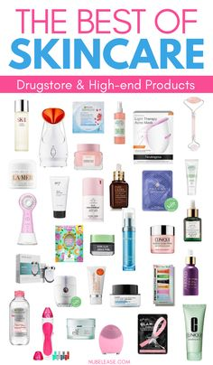 The Best Skincare Products of the Year!  These drugstore and high end luxury skin care products will completely change your skincare routine! #skincare #skincareroutine #beautyproducts