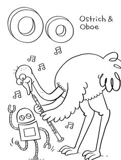 Ostrich Coloring Pages For Children