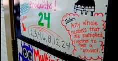 Young Teacher Love: Factors and Multiples - anchor charts and making posters as a formative assessment