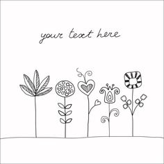 Handdrawn doodle flowers by vectorillustrations on Etsy, $3.00