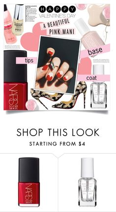 """""""Valentine's Day manicure"""" by dolly-valkyrie ❤ liked on Polyvore featuring beauty, NARS Cosmetics, Lipsy and Essie"""