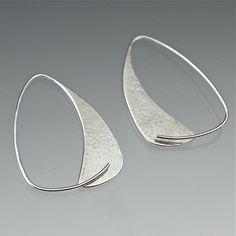 Triangle Hoops by Susan Panciera (Silver Earrings)   Artful Home