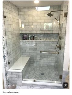 49 Trendy bathroom tub remodel before and after Master Bathroom Shower, Bathroom Renos, Small Bathroom, Bathroom Ideas, Bathroom Storage, Budget Bathroom, Bath Shower, Bath Tub, White Bathroom