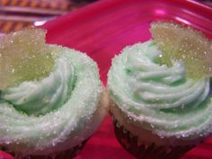 "Virgin/Mocktail Margarita Cupcakes It seems like folks don't understand the concept of ""virgin"" anymore. I was looking for a good non-alcoholic margarita cupcake recipe and every one of them called for tequila. Years ago a 'virgin' … Virgin Margarita, Margarita Cupcakes, Cupcake Recipes, Dessert Recipes, Desserts, Drink Recipes, Cupcake Party, Cupcake Cakes, Cup Cakes"