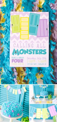 7 Simple Tips for Styling Classy Character Parties - Pizzazzerie Monster Birthday Parties, Monster Party, Boy Birthday, Monster University Party, Kids Party Decorations, Partys, Party Entertainment, Childrens Party, Baby Boy Shower