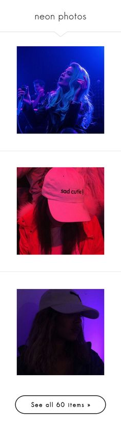 """""""neon photos"""" by punkrock-lifee ❤ liked on Polyvore featuring tops, get lost, blue top, grunge tops, purple top, photos, backgrounds, tumblr, pictures and images"""